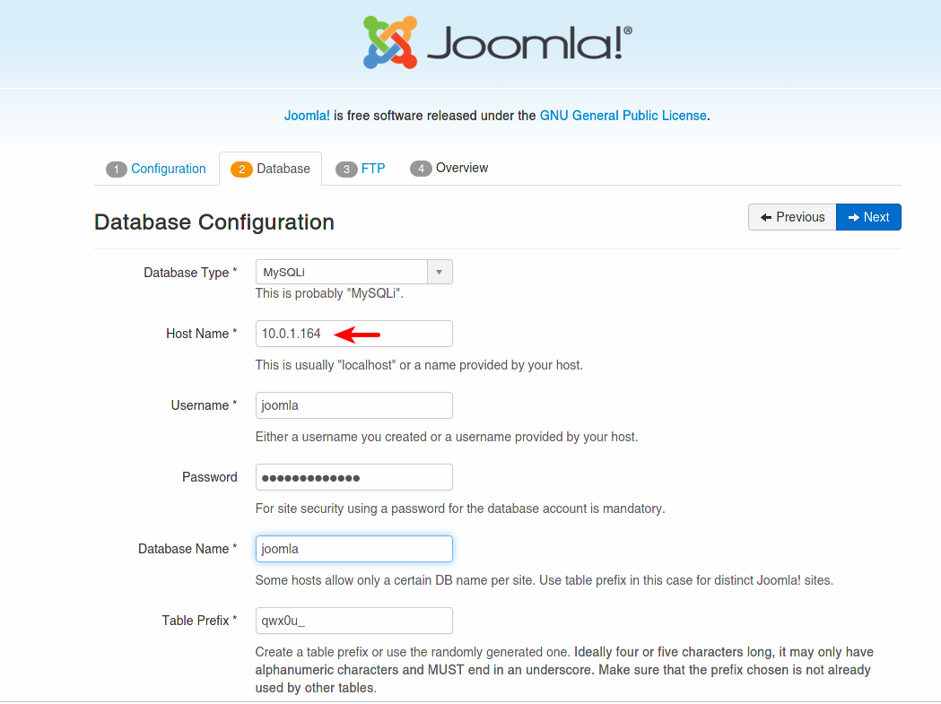 Deploying Joomla! on OCI and MDS